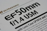 EF50mm F1.4 USM パッケージ