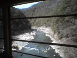 トロッコから見た風景2、保津峡