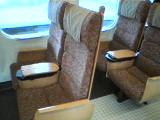 新幹線つばめの座席